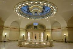 Wewnętrzny widok stanu Capitol Oklahoma w Oklahoma City, OK fotografia stock
