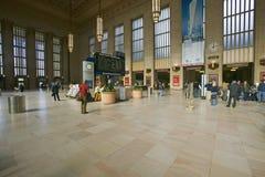 Wewnętrzny widok 30th ulicy stacja, krajowy rejestr Historyczni miejsca, AMTRAK dworzec w Filadelfia, PA obrazy stock
