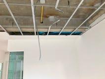 Wewnętrzna budowa budynek mieszkalny cementu sufit Obraz Stock