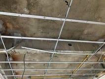 Wewnętrzna budowa budynek mieszkalny cementu sufit Zdjęcia Stock