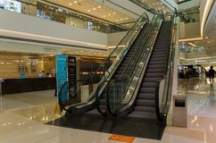 Wewn?trzna dekoracja luksusowy centrum handlowe w Chengdu, obraz royalty free