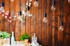 Wewnętrzna dekoracja, zawieszone lampy Zdjęcia Royalty Free