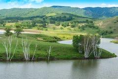 Wewnętrzna Mongolia Ulan Buh EC kumaka tamy sceneria Obraz Royalty Free
