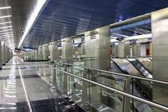 Wewnętrzna Moskwa stacja metru Fotografia Royalty Free