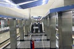 Wewnętrzna Moskwa stacja metru  Zdjęcia Stock