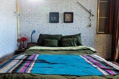 Wewnętrzna sypialnia dla domu Obraz Stock