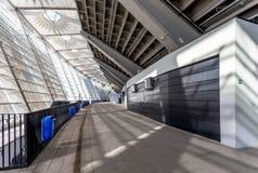 Wewnętrzne przestrzenie przy Olimpiyskiy stadium Obrazy Stock