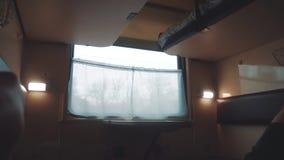 Wewn?trznego furgonu kolejowy fracht w?rodku linia kolejowa samochodu styl życia pojęcia podróży podróży pociąg Widok pi?kny od zdjęcie wideo