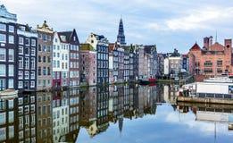 Wewnętrznego schronienia miasta odbicia Amsterdam Holandia Stare holandie Obraz Royalty Free