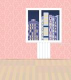 Wewnętrzni budynki przegapia kompleks apartamentów Fotografia Royalty Free