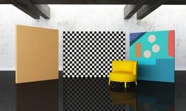 Wewnętrzni 3d renderingu wizerunki Zdjęcie Royalty Free