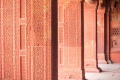 Wewnętrzni elementy Czerwony fort w Agra, India Fotografia Royalty Free