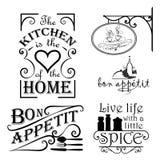 Wewnętrzni kuchenni wystroje Fotografia Stock
