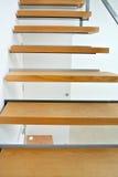 Wewnętrzny drewniany schody Zdjęcia Stock