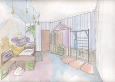 wewnętrzny dziecko pokój s royalty ilustracja