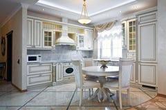 wewnętrzny kuchenny luksus Zdjęcie Royalty Free