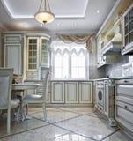wewnętrzny kuchenny luksus Zdjęcie Stock