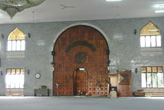 Wewnętrzny Kuching Grodzki meczet a K masjid Bandaraya Kuching w Sarawak, Malezja Obraz Royalty Free