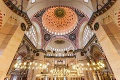 wewnętrzny meczetowy suleymaniye Fotografia Stock
