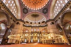 wewnętrzny meczetowy suleymaniye Fotografia Royalty Free