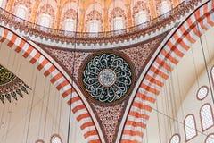 wewnętrzny meczetowy suleymaniye Obrazy Stock