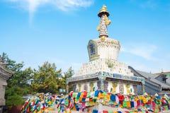 WEWNĘTRZNY MONGOLIA CHINY, Aug, - 13 2015: Pagoda przy Xilitu Zhao Templ Zdjęcie Stock