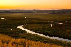 Wewnętrzny Mongolia obszar trawiasty Fotografia Stock