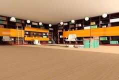 wewnętrzny nowoczesnego biblioteki Obrazy Royalty Free