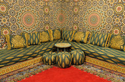 wewnętrzny orientalny pokój Zdjęcie Royalty Free
