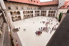 Wewnętrzny podwórze Wawel kasztel w Krakow Obraz Stock
