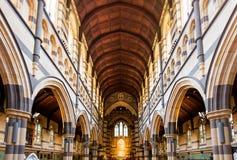 Wewnętrzny projekt anglikanina St Paul Katedralny Melbourne Fotografia Stock