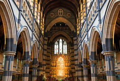 Wewnętrzny projekt anglikanina St Paul Katedralny Melbourne Zdjęcia Stock