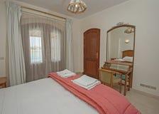 Wewnętrzny projekt sypialnia w domu Zdjęcie Stock