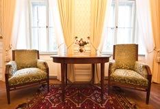 wewnętrzny retro pokój Zdjęcia Royalty Free