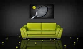 wewnętrzny tenisowy temat Obrazy Stock