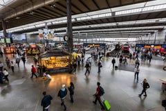 Wewnętrzny widok Monachium magistrali stacja kolejowa Zdjęcie Royalty Free