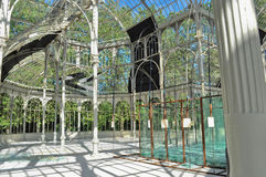 Palacio De Cristal wnętrze Zdjęcia Stock