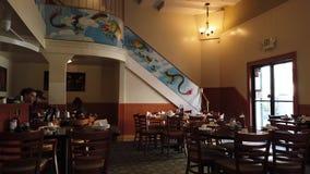 Wewn?trzny widok restauracja kt?ry filmowa? przedtem Jackie Chan zdjęcie wideo