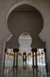 Wewnętrzny widok Sheikh Zayed meczet, Abu-Dhabi, UAE Zdjęcie Royalty Free