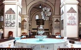 Wewnętrzny widok Wielki meczet (Ulu Cami) Obrazy Royalty Free