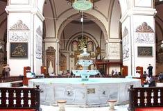 Wewnętrzny widok Wielki meczet (Ulu Cami) Obrazy Stock