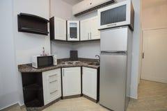 Wewnętrzny wystroju projekt kuchnia w przedstawienie domu mieszkaniu Obrazy Royalty Free