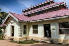 Wewrukannala buddistisk tempel i Sri Lanka Fotografering för Bildbyråer