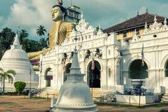 Wewurukannala佛教寺庙在Dickwella,斯里兰卡 库存照片