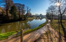 Wey del fiume in Guildford Immagine Stock Libera da Diritti
