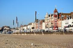 Weymouth beach and Esplanade. Royalty Free Stock Photos