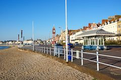 Weymouth beach and promenade. Stock Images
