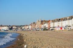 Weymouth beach and promenade. Stock Photo