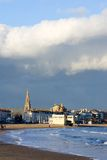 Weymouth Church in Southern England on a sunny, stormy day Stock Images
