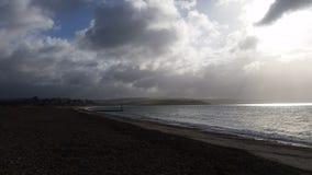 Weymouth de plage d'Overcombe Photo libre de droits